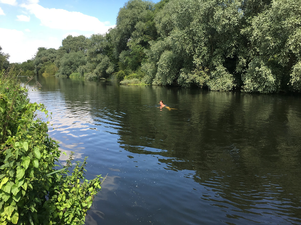 Wild swimming Olney, River Ouse
