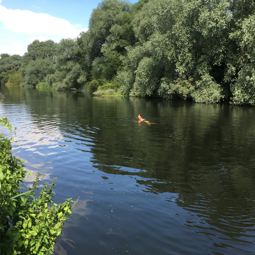 Wild swimming Olney, River Ouse.