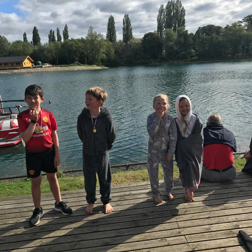 Junior open water swimming