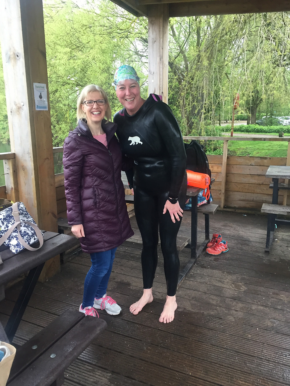 Stanborough Lakes open water swimming. This Girl Can.