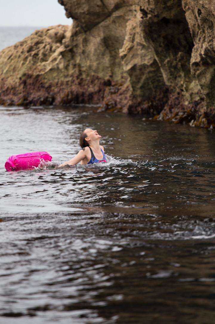 Mental benefits of wild swimming.