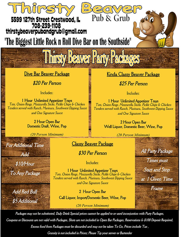 Beaver Party Packages.jpg
