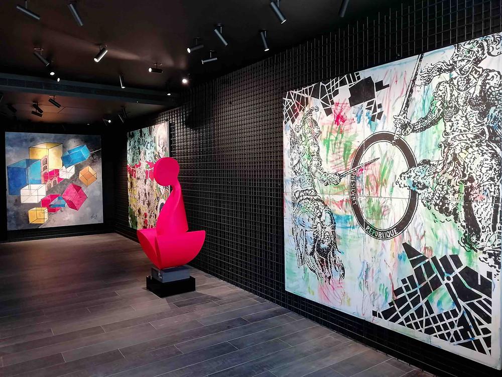 Exposition à saint jean cap ferrat |Aoun Vestri Gallery |Saint-Jean-Cap-Ferrat |Le micro de Morgane