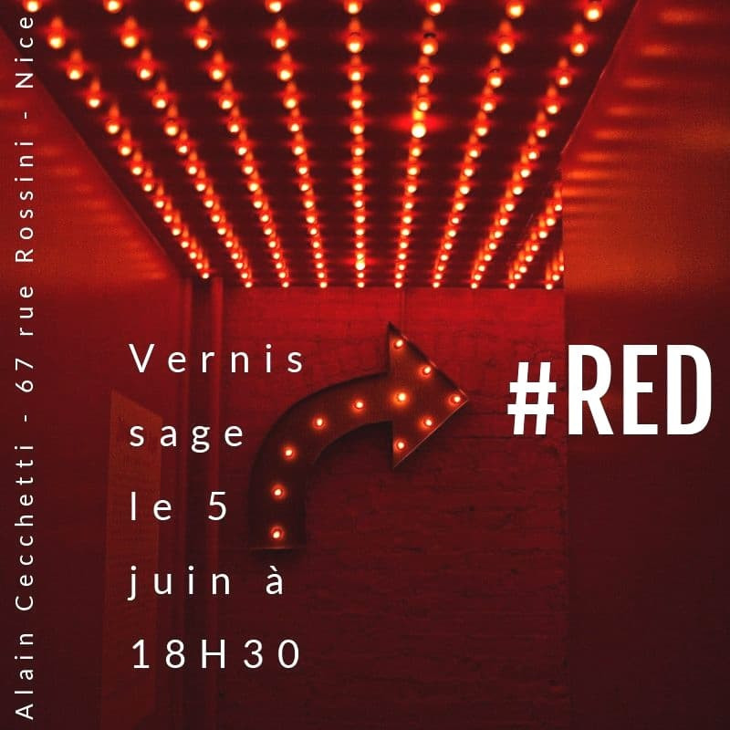 Exposition Red |Alain Cecchetti |Nice |Le micro de Morgane