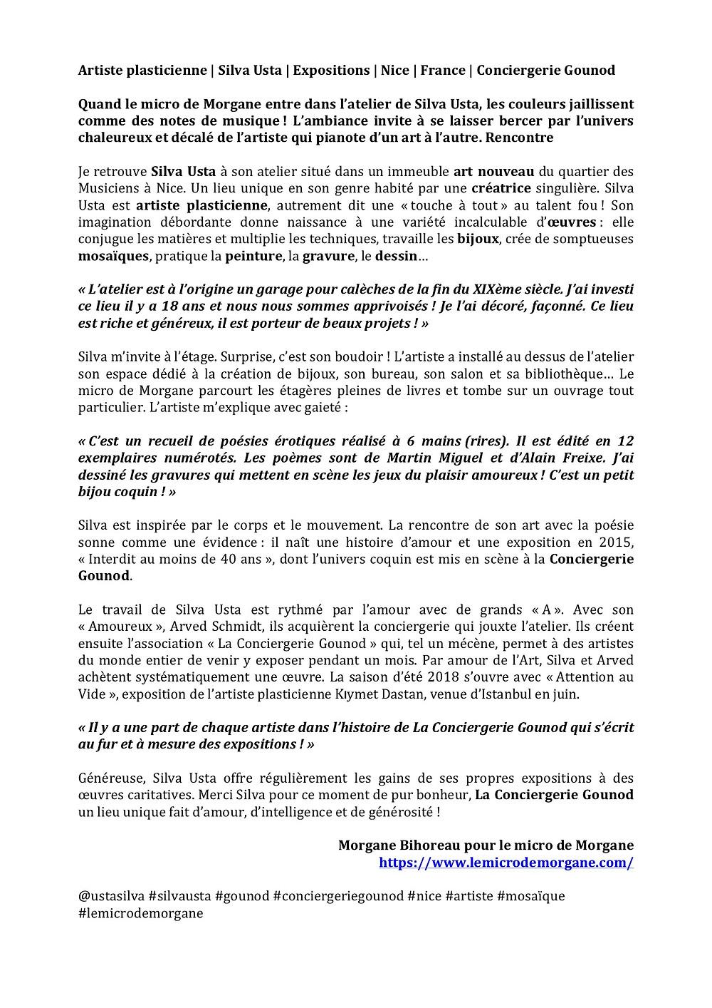Silva Usta |Morgane Bihoreau |Nice |France|lemicrodemorgane.com