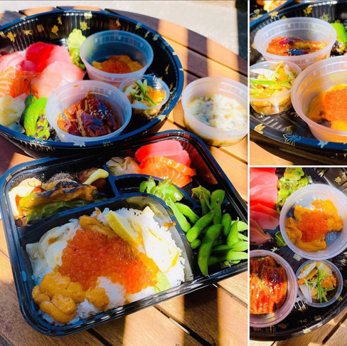 Premium Sashimi Set and Uni Ikura Bento
