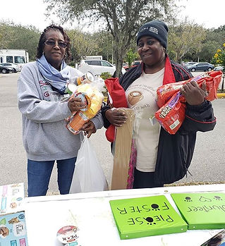 Today at the pet food pantry in partners