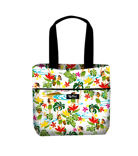Hawaiian Hula Girl Reversible Tote M