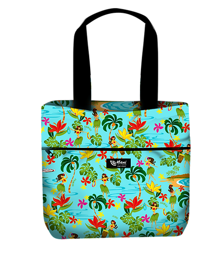 Hawaiian Hula Girl Reversible Tote L