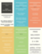 Colorful Boxes Weekly Meal Planner Menu