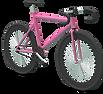 3Dピンクの自転車