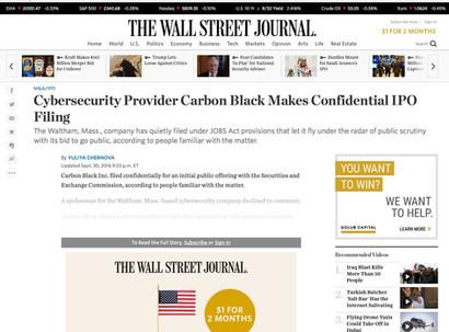 Carbon Black IPO_VMware