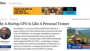 Why A Startup CFO Is Like A Personal Trainer