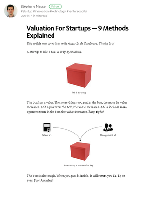 Valuation For Startups - 9 Methods Explained