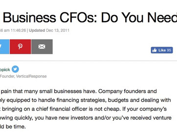Small Business CFO's: Do You Need One?