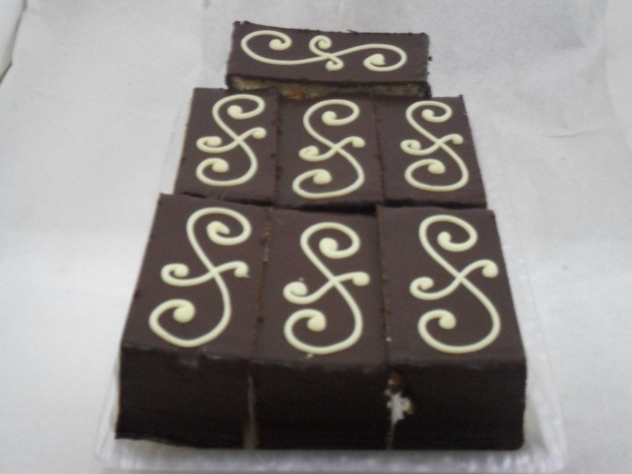 Pastel de chocolate.