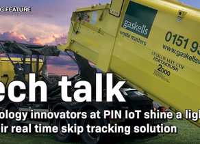 PIN IoT Featured in Skip Hire Magazine