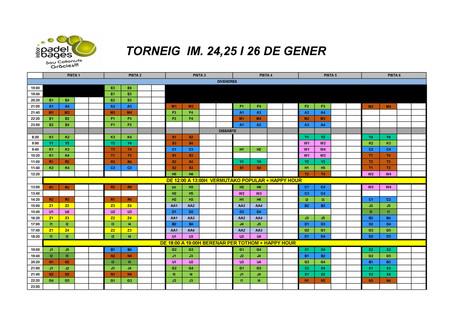 TORNEIG I.M DEL 24,25 I 26 DE GENER!