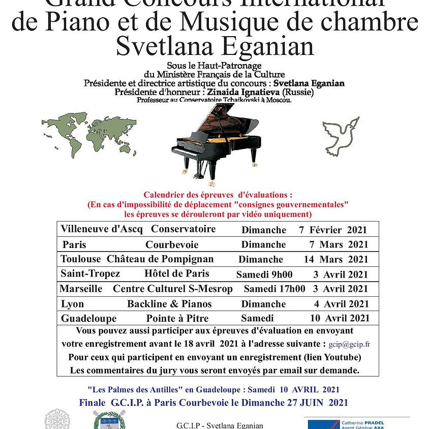 Grand Concours International de Piano et Musique de Chambre Scetlana Eganian