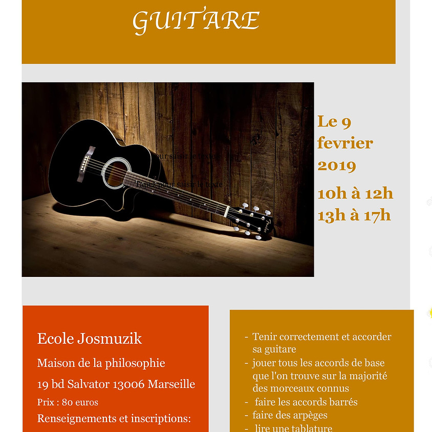 STAGE  D'INITIATION GUITARE
