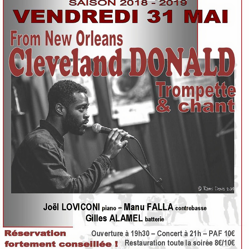 From New Orleans...  Cleveland DONALD / Trompette & chant