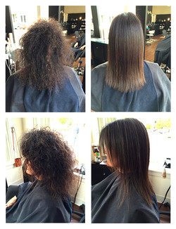 Brazilian Blowout - Before and After