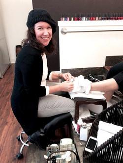 Linda at work