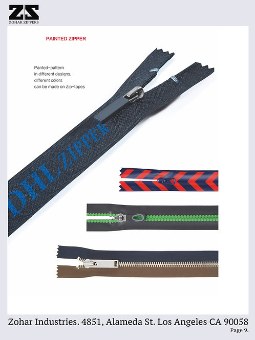 Painted Zippers