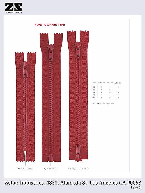Plastic / Molded Zippers