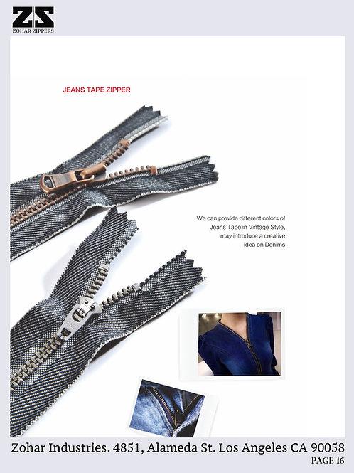 Jeans Tape Zipper
