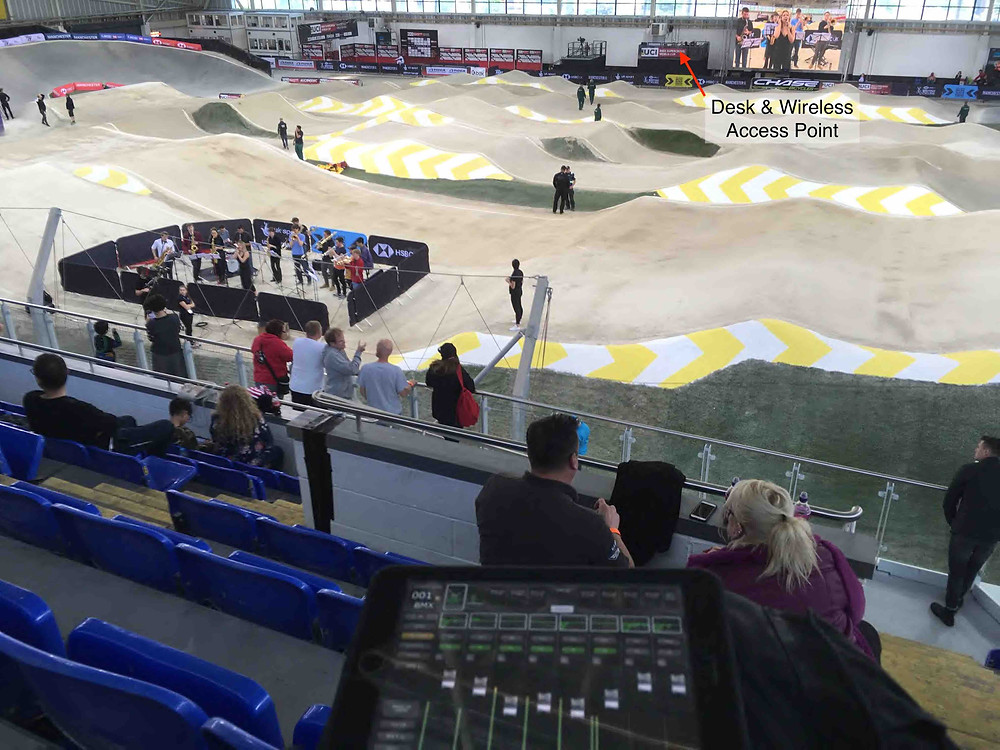 Mixing with an iPad at BMX Arena