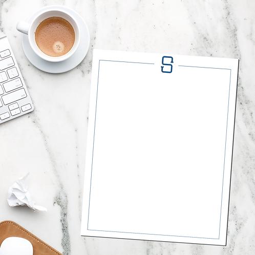 "Traditional Monogram Notepad   8.5""x11"" Notepad   53 Sheets"