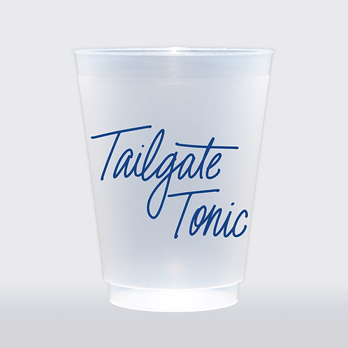 Tailgate Tonic - Blue   Set of 8 16 oz Frosted Shatterproof