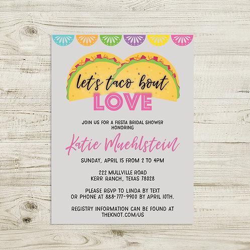 Fiesta Bridal Shower Invitation   Bachelorette Party   Rehearsal Dinner