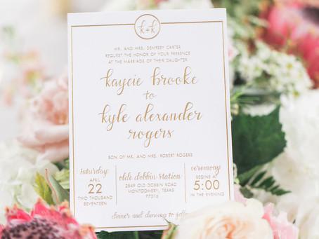 Romantic Olde Dobbin Station Wedding | Montgomery, Texas