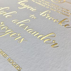 Wedding Invitation Printing Foil