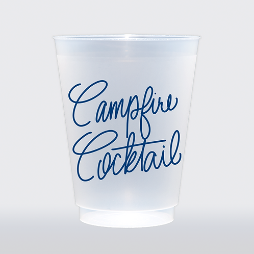 Campfire Cocktail   Set of 8 16 oz Frosted Shatterproof Cup