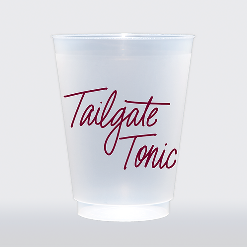 Tailgate Tonic - Maroon | Set of 8 16 oz Frosted Shatterproof Cup