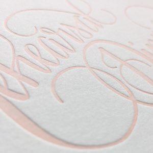 Wedding Invitation Printing Letterpress