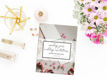 How to Mail Wedding Invitations {FREE DOWNLOAD!}