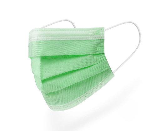 3 katlı, telli, meltblown maske (50 adet) Yeşil