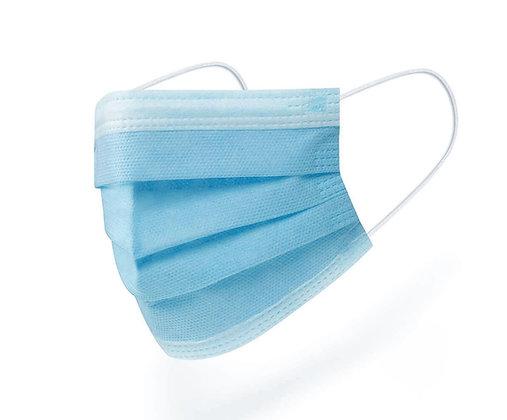 3 katlı, telli, meltblown maske (50 adet) Mavi