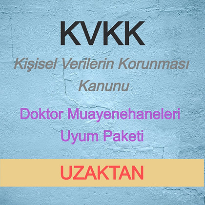 KVKK Doktor Muayenehanesi Paket (UZAKTAN) - V3.1