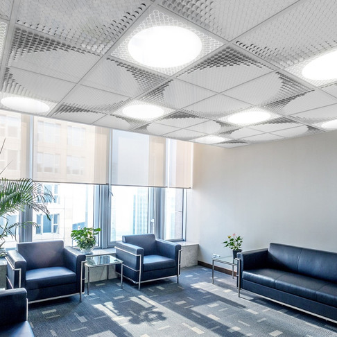Ceilight combines ceiling tiles with flexible lighting elements for office designers