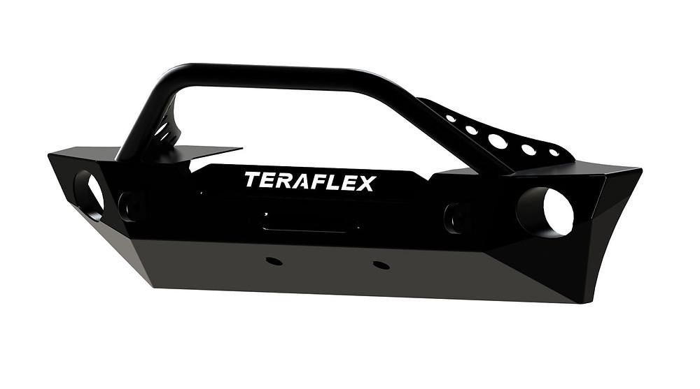 Teraflex JK Front Epic Bumper w/Hoop Kit - Offset Drum Winch