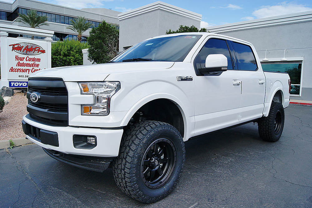 2017 Ford F150 White 6 Inch Lift