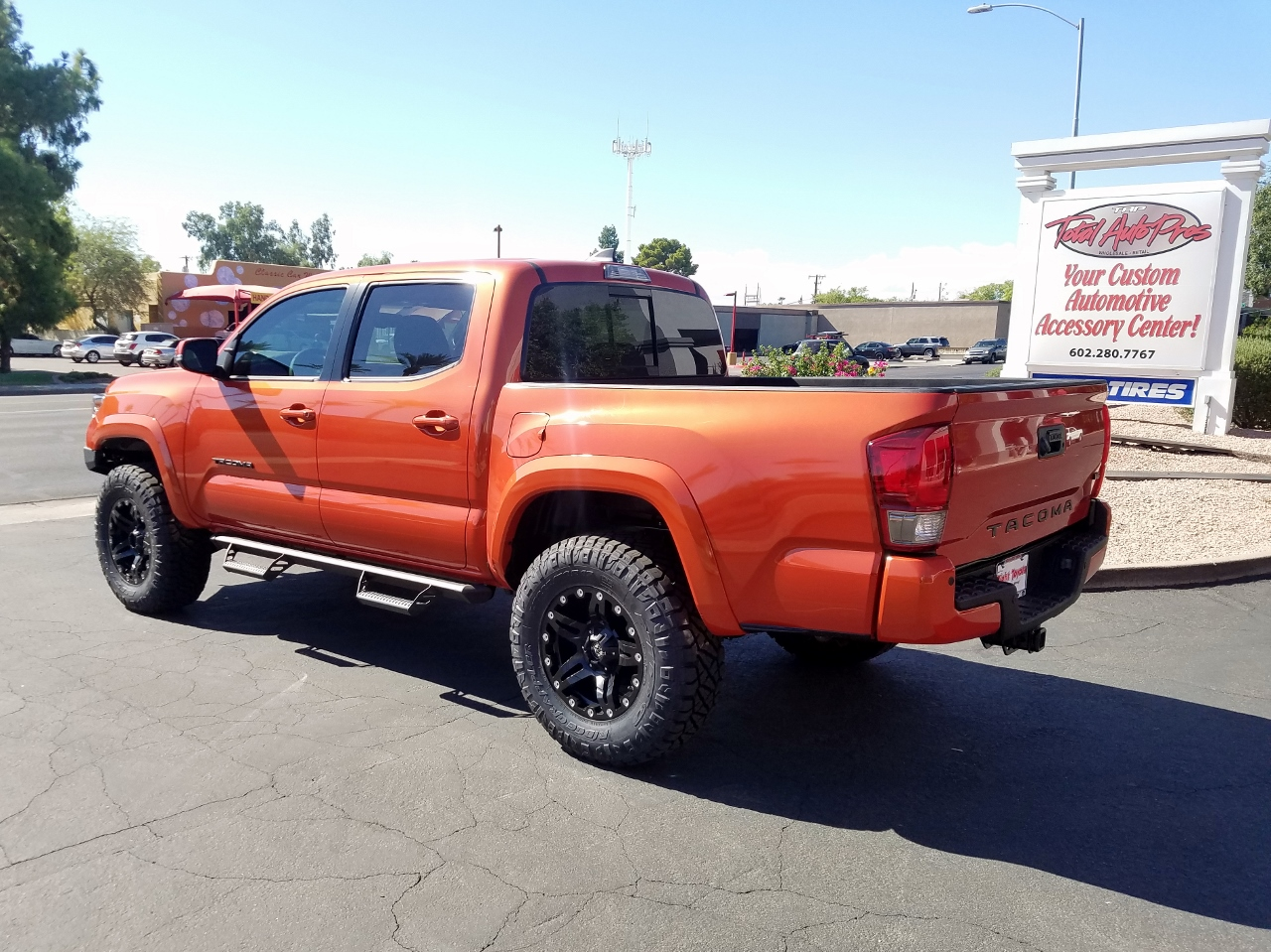 2017 TOYOTA TACOMA INFERNO RED