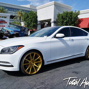 2016 Hyundai Genesis White w/ 24K Gold Wheels