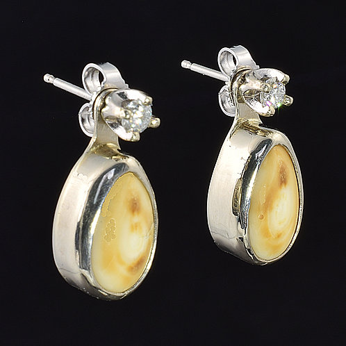 ELK IVORY JACKET EARRINGS