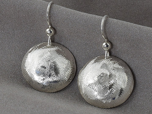 Sterling Silver Textured EarringsII